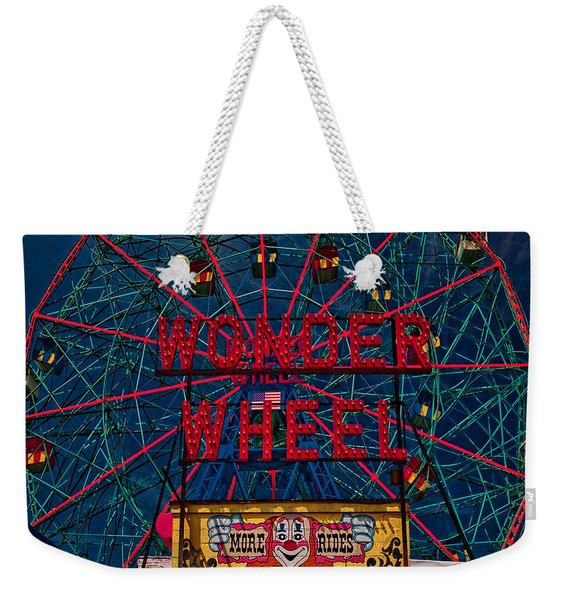 The Wonder Wheel At Luna Park Weekender Tote Bag