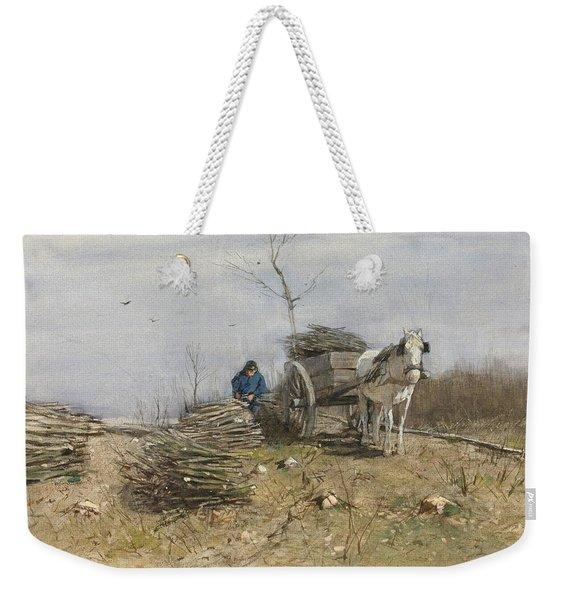 The Wood Gatherer Weekender Tote Bag