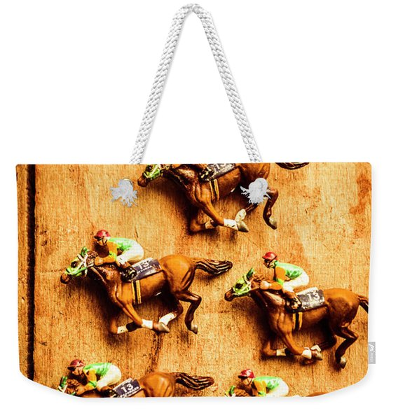 The Wooden Horse Race Weekender Tote Bag