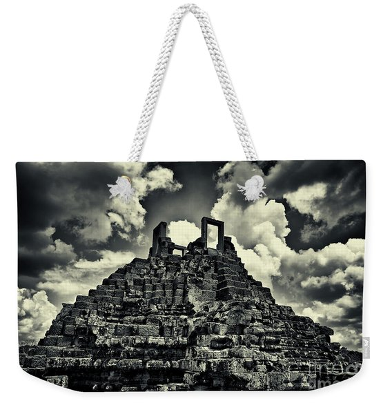 Weekender Tote Bag featuring the photograph The World's Largest Jigsaw Puzzle At Baphoun Temple, Angkor Thom, Siem Reap Province, Cambodia by Sam Antonio Photography