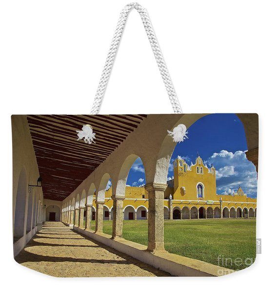 Weekender Tote Bag featuring the photograph The Yellow City Of Izamal, Mexico by Sam Antonio Photography