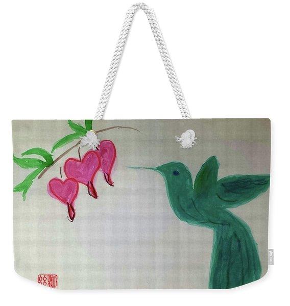 The Joy Of Hummingbird Weekender Tote Bag