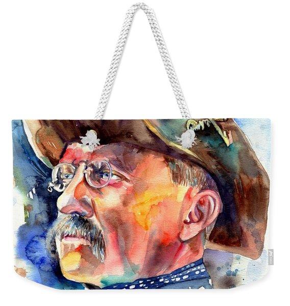 Theodore Roosevelt Painting Weekender Tote Bag