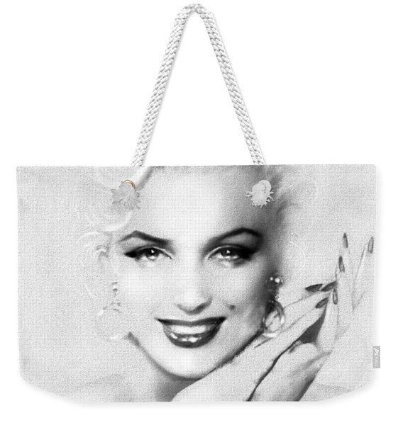 Theo's Marilyn 133 Bw Weekender Tote Bag