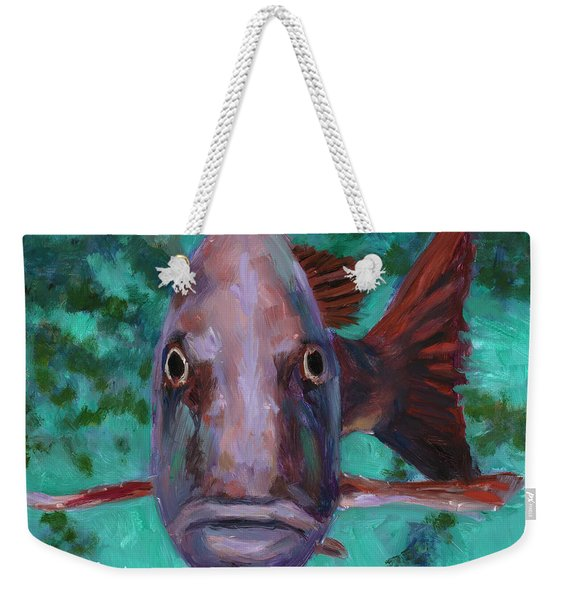 There's Something Fishy Going On Here Weekender Tote Bag