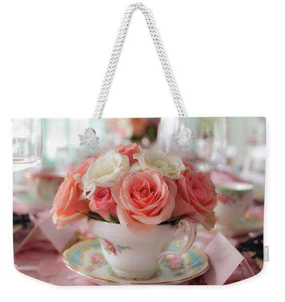 Teacup Roses Weekender Tote Bag