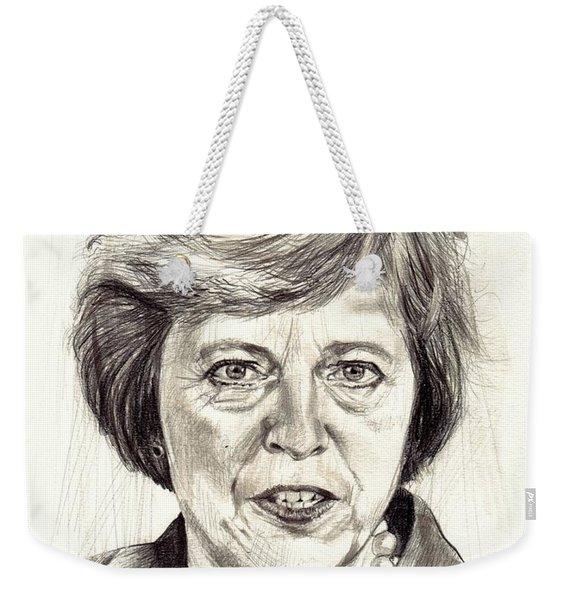 Theresa May Portrait Weekender Tote Bag