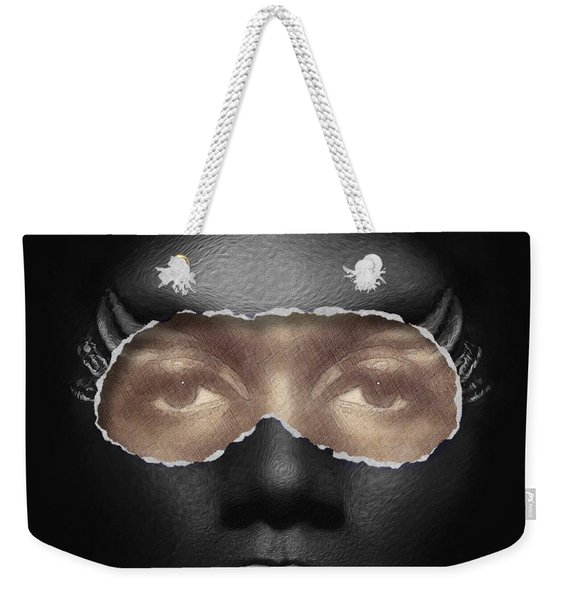 Weekender Tote Bag featuring the digital art Thin Skinned by ISAW Company