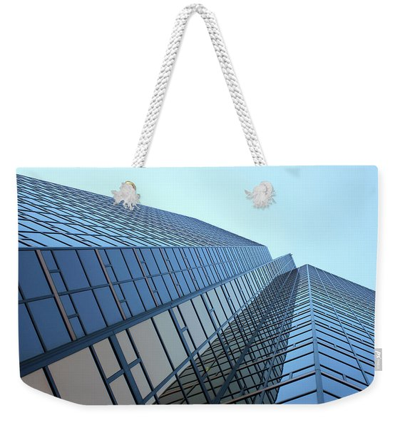 Things Are Looking Up Southfield Michigan Town Center Building Perspective Weekender Tote Bag