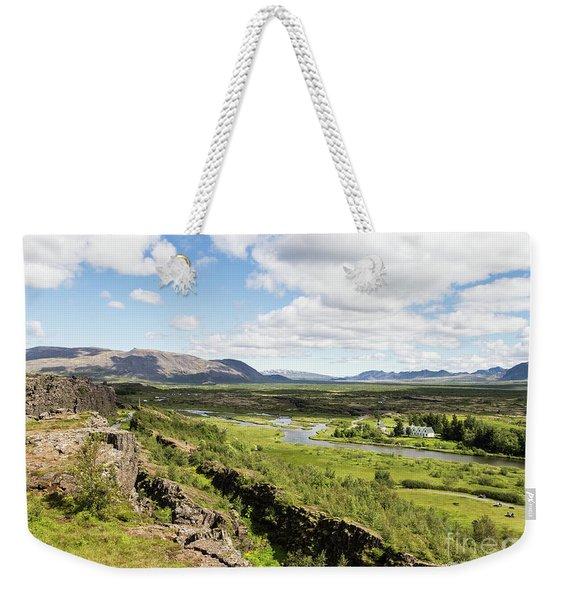 Thingvellir National Park In Iceland Weekender Tote Bag