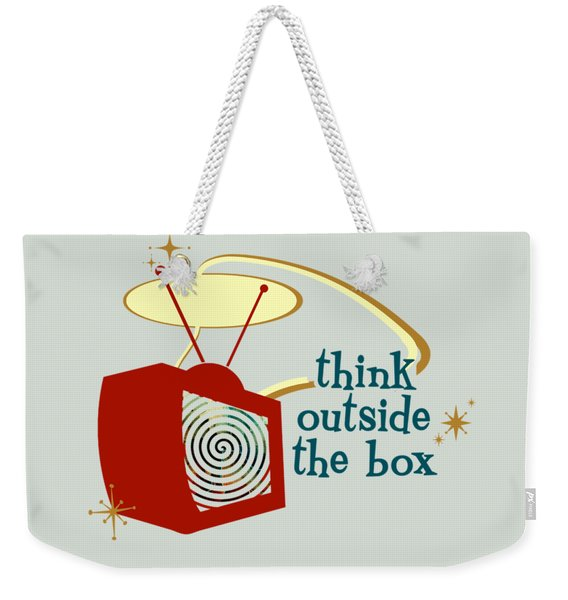 Think Outside The Box Weekender Tote Bag