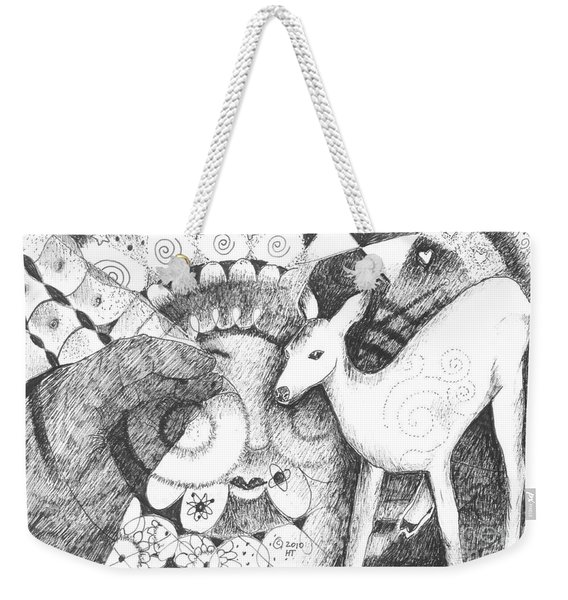 Thinking Of Mary Weekender Tote Bag