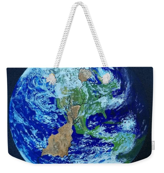 Weekender Tote Bag featuring the painting Thinner Than An Eggshell by Kevin Daly
