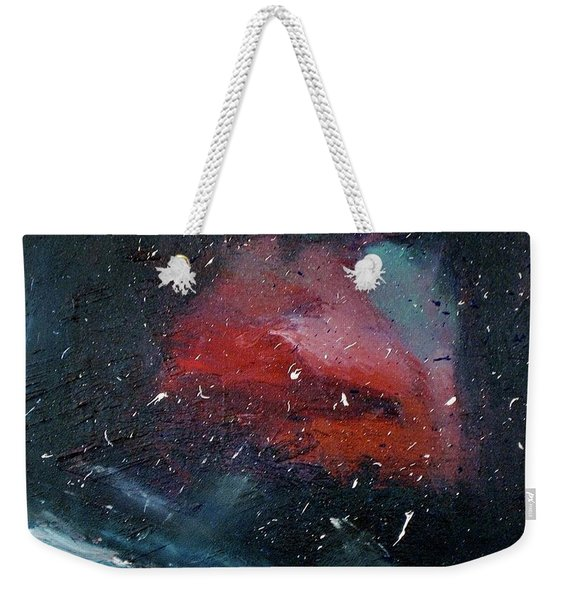 Weekender Tote Bag featuring the painting Third Eye by Michael Lucarelli