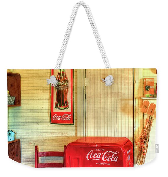 Thirst-quencher Old Coke Machine Weekender Tote Bag
