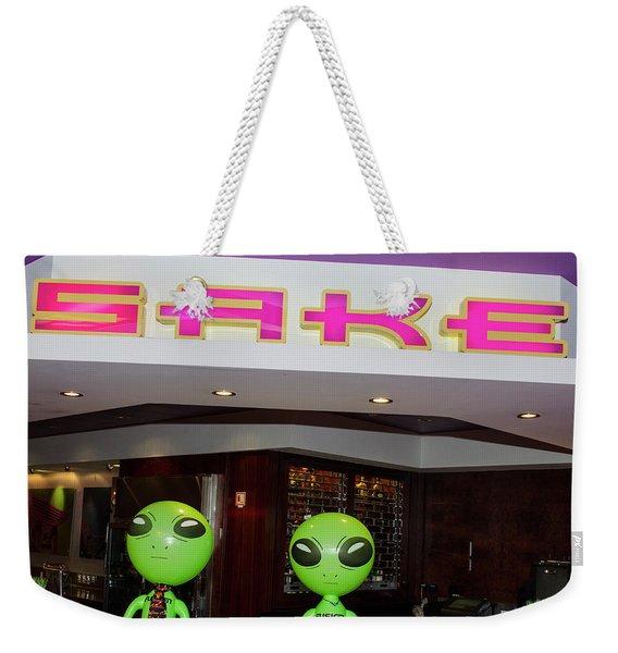 Thirsty Aliens Desire Sake Weekender Tote Bag