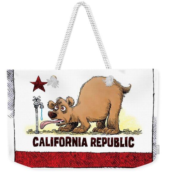 Thirsty California Flag Weekender Tote Bag