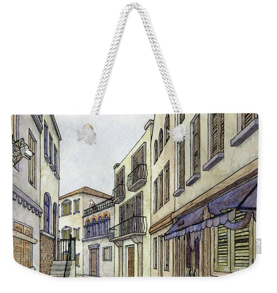 Weekender Tote Bag featuring the painting This City Has Gone To The Wolves by ZH Field