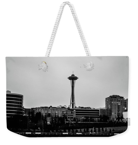 This Is Seattle Black And White Weekender Tote Bag