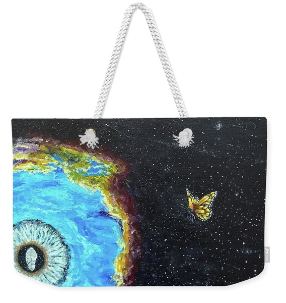 Weekender Tote Bag featuring the painting This Is Where... by Kevin Daly