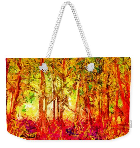 This Light Defeats The Darkness Weekender Tote Bag