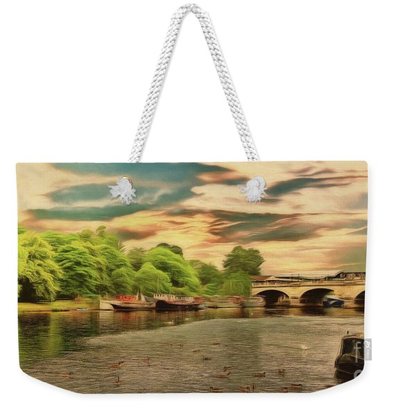 This Morning On The River Weekender Tote Bag