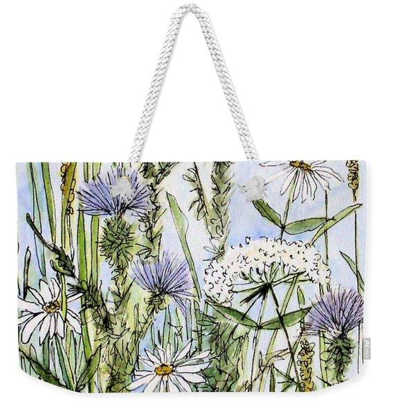 Thistles Daisies And Wildflowers Weekender Tote Bag