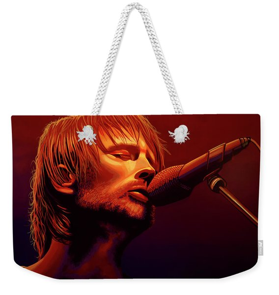 Thom Yorke Of Radiohead Weekender Tote Bag