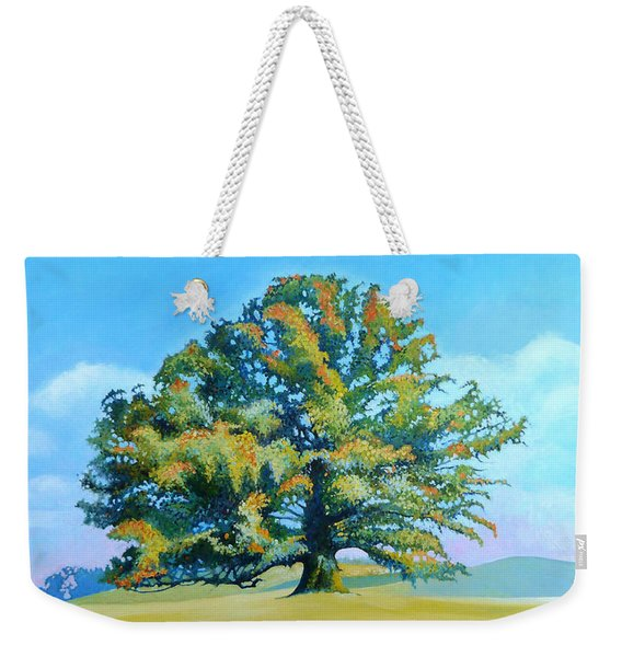Thomas Jefferson's White Oak Tree On The Way To James Madison's For Afternoon Tea Weekender Tote Bag