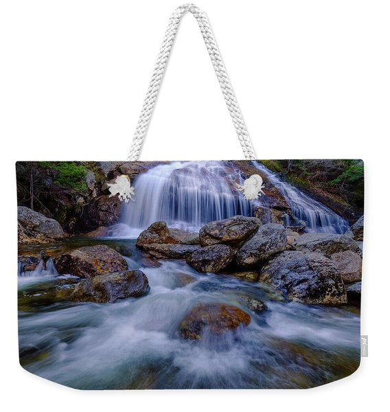 Weekender Tote Bag featuring the photograph Thompson Falls, Pinkham Notch, Nh by Jeff Sinon