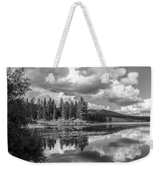 Thompson Lake In Black And White Weekender Tote Bag