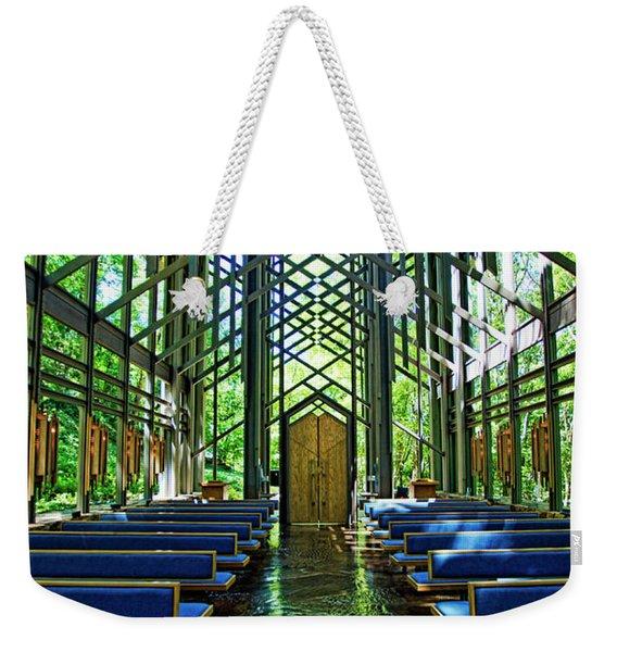 Thorncrown Chapel Serenity Weekender Tote Bag
