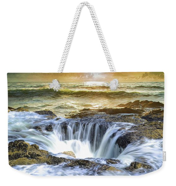 Thor's Well - Oregon Coast Weekender Tote Bag