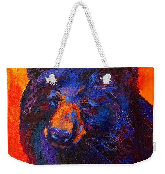 Thoughtful - Black Bear Weekender Tote Bag