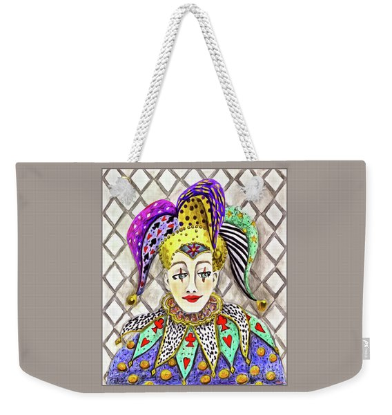 Thoughtful Jester Weekender Tote Bag