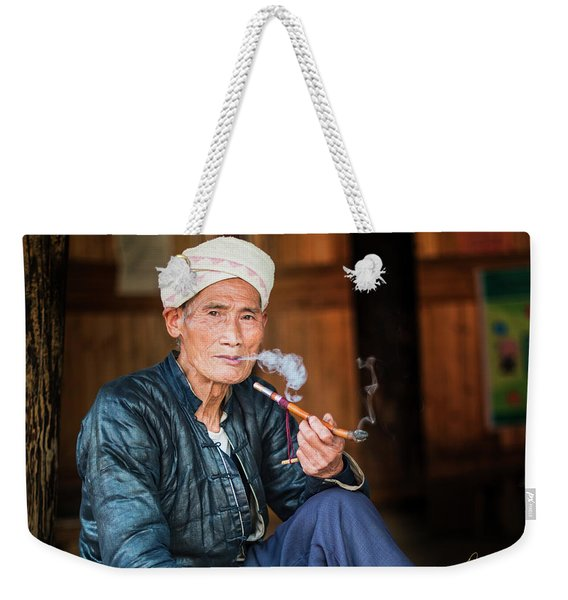 Thoughtful Moment Weekender Tote Bag