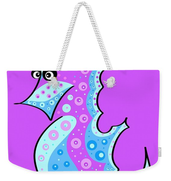 Thoughts And Colors Series Seahorse Weekender Tote Bag
