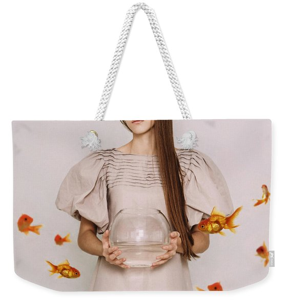 Thoughts Of Freedom. Series Escape Of Golden Fish  Weekender Tote Bag