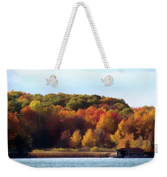 Thousand Island Color Weekender Tote Bag