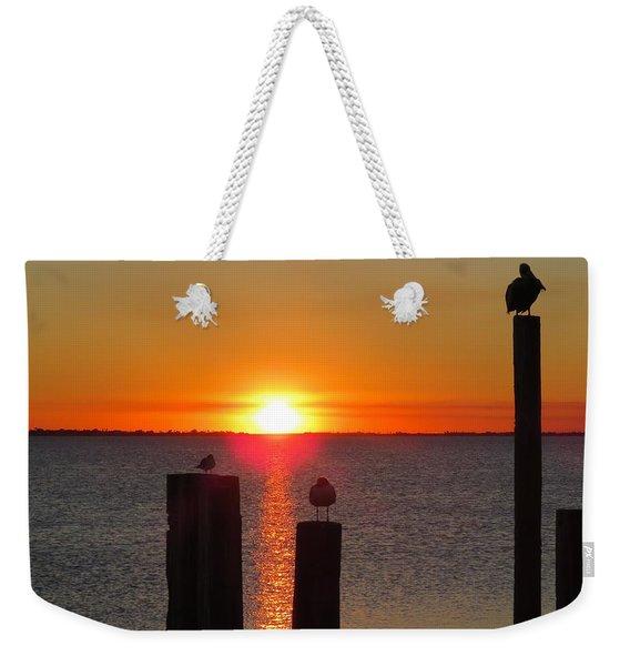 Three Birds In The Sunset Weekender Tote Bag