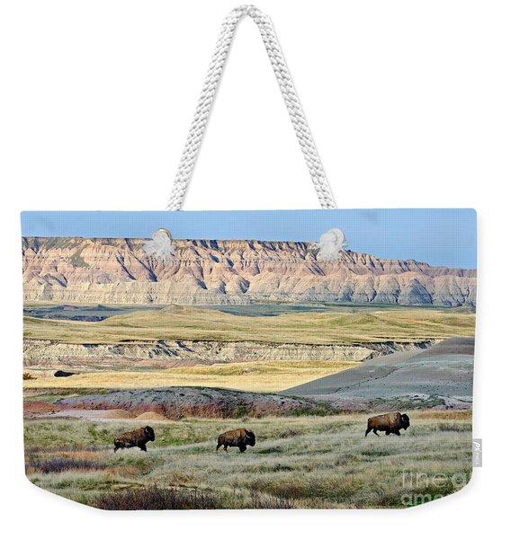Three Bison Bulls Weekender Tote Bag