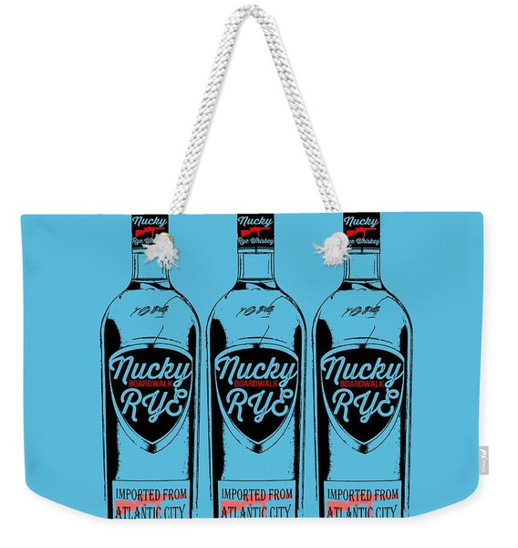 Three Bottles Of Nucky Rye Tee Weekender Tote Bag