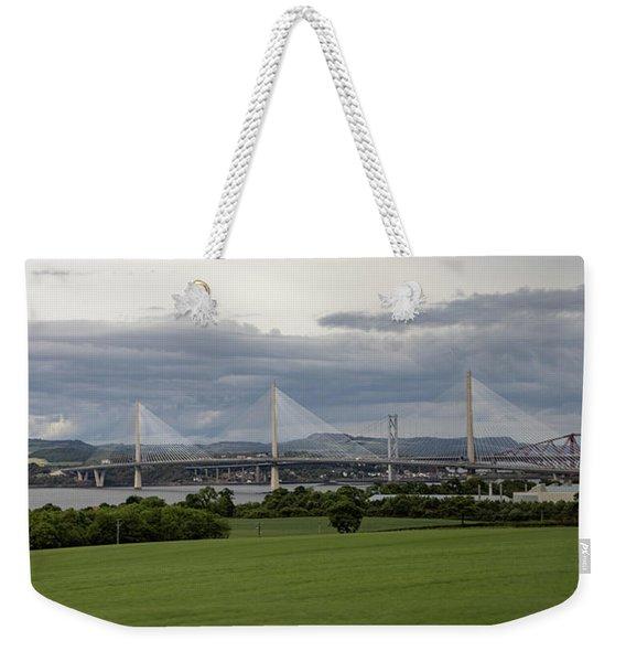 Three Bridges Over The Forth Weekender Tote Bag