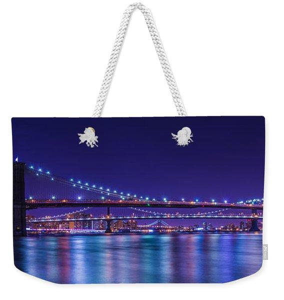 Three Bridges Weekender Tote Bag