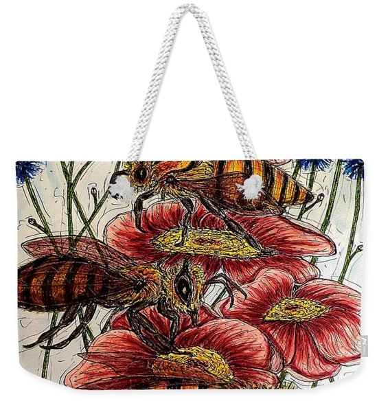 Three Busy Bees Weekender Tote Bag