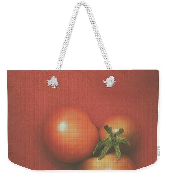Three Cherry Tomatoes Weekender Tote Bag