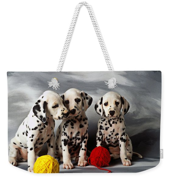 Three Dalmatian Puppies  Weekender Tote Bag