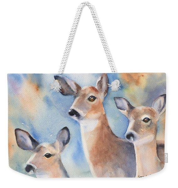 Three Deer Weekender Tote Bag