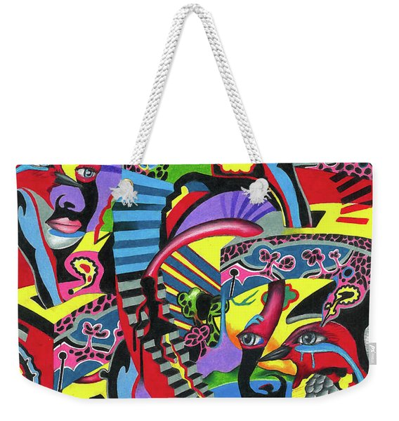 Three Disguises Of An Abstract Thought Weekender Tote Bag