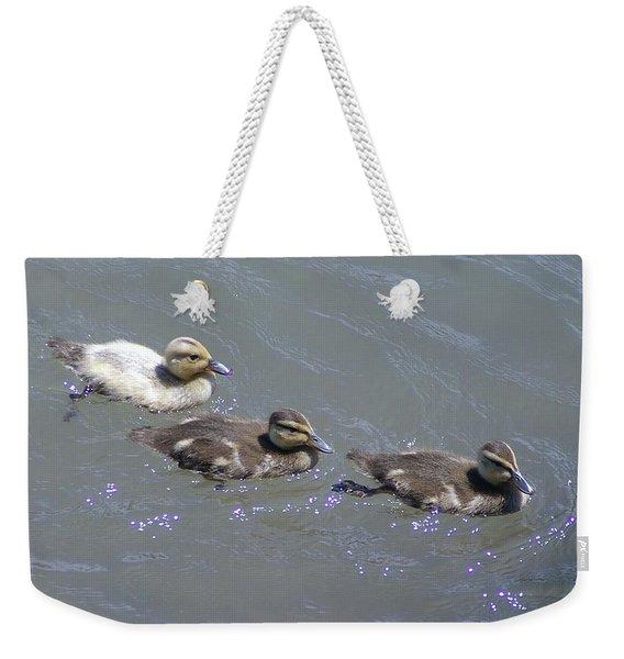 Three Duckies  Weekender Tote Bag